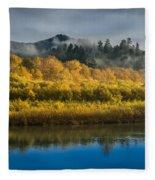 Autumn On The Klamath 2 Fleece Blanket