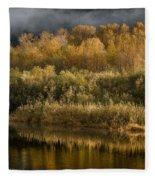 Autumn On The Klamath 3 Fleece Blanket