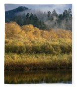 Autumn On The Klamath 4 Fleece Blanket