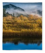 Autumn On The Klamath 5 Fleece Blanket