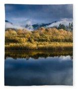 Autumn On The Klamath 7 Fleece Blanket