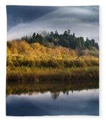 Autumn On The Klamath 9 Fleece Blanket