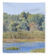 Autumn On The Marsh Fleece Blanket