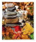 Autumn On The Rocks Fleece Blanket
