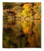 Autumn On Ullswater Fleece Blanket