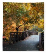 Autumn Overpass Fleece Blanket