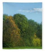 Autumn Panorama 3 Fleece Blanket