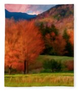 Autumn Pasture Fleece Blanket