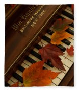 Autumn Piano 11 Fleece Blanket