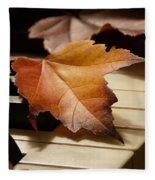 Autumn Piano 13 Fleece Blanket