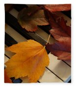 Autumn Piano 2 Fleece Blanket