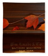 Autumn Piano 3 Fleece Blanket
