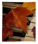 Autumn Piano 6 Fleece Blanket