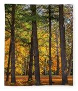 Autumn Pines Square Fleece Blanket