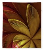 Autumn Plant Fleece Blanket