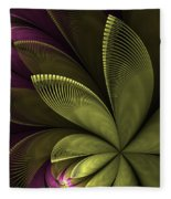 Autumn Plant II Fleece Blanket
