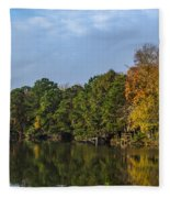 Autumn Pond Fleece Blanket