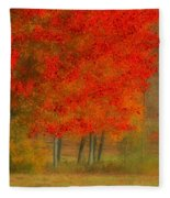 Autumn Popping Fleece Blanket