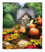 Autumn - Pumpkin - This Years Harvest Was Awesome  Fleece Blanket