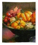Autumn Pumpkins Fleece Blanket