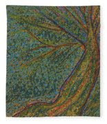 Autumn Rain Tree Fleece Blanket