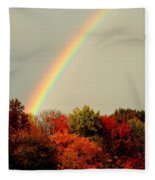 Autumn Rainbow Fleece Blanket