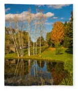 Autumn Reflecting Fleece Blanket