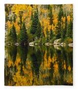 Autumn Reflections At Bear Lake Fleece Blanket