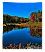 Autumn Reflections In The Adirondacks Fleece Blanket