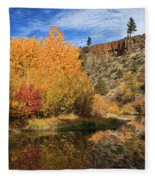 Autumn Reflections In The Susan River Canyon Fleece Blanket
