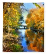 Autumn Reflections On A Friday Afternoon Fleece Blanket