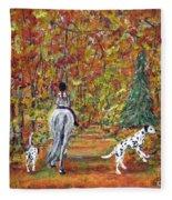 Autumn Ride Fleece Blanket