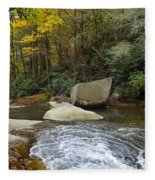 Autumn River Fall Fleece Blanket