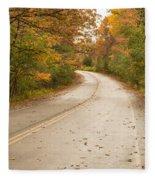 Autumn Road II Fleece Blanket