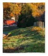 Autumn Road Morning Fleece Blanket