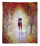 Autumn Romance Fleece Blanket