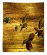 Autumn Rust Fleece Blanket