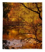 Autumn Scene Fleece Blanket