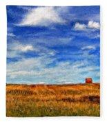 Autumn Sky Impasto Fleece Blanket