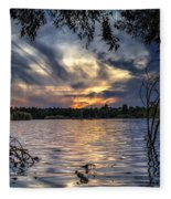 Autumn Sky Fleece Blanket
