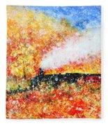 Autumn Snow Fleece Blanket