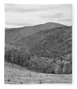Autumn Song Monochrome Fleece Blanket