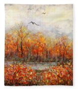 Autumn Song Fleece Blanket