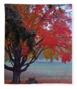 Autumn Splendor Fleece Blanket