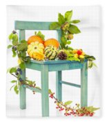 Autumn Still Life Chair Fleece Blanket