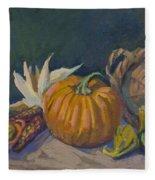 Autumn Still Life Fleece Blanket