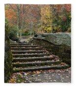 Autumn Stone Staircase Fleece Blanket