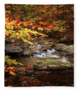 Autumn Stream Square Fleece Blanket