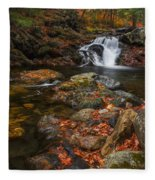 Autumn Streams In Tamworth Fleece Blanket