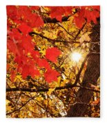Autumn Sunrise Painterly Fleece Blanket